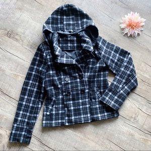 JouJou Black, White, & Gray Coat